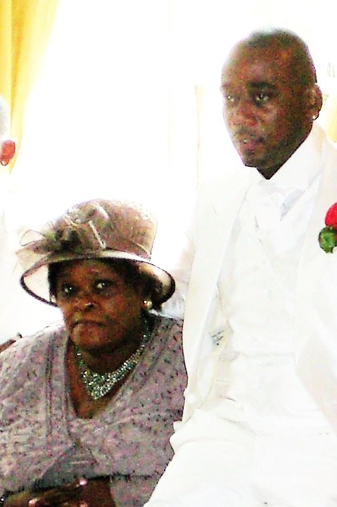 Mrs Dorothy Cherry Groce and son, Lee