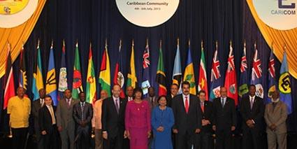 Representatives of Caricom nations
