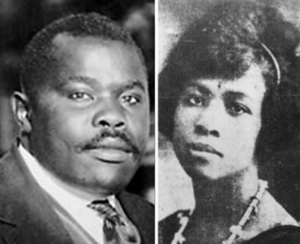 Amy Jacques Garvey and husband Marcus